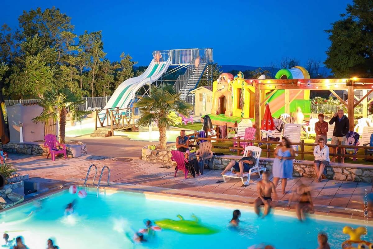 La piscine du camping l'Epi bleu